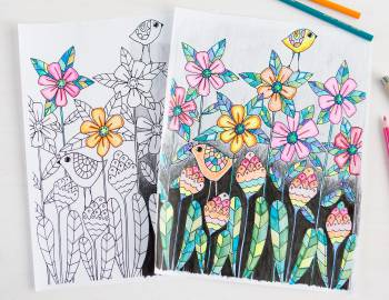 30 Coloring Pages: Get Creative with Colored Pencils
