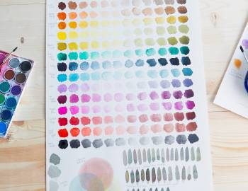 Playing with Watercolor: Mixing Colors and Creating Charts