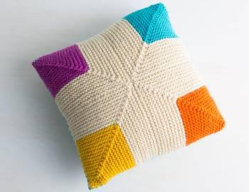 Mitered Knitting Make A Pillow