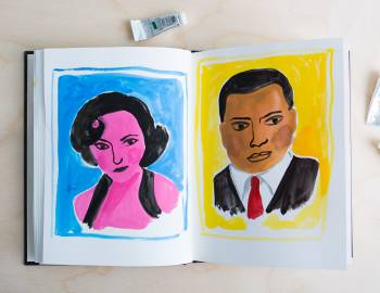 Illustrative Painting with Gouache: Painting Stylized Faces