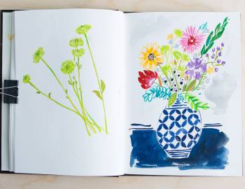 Illustrative Painting with Gouache: Painting Florals