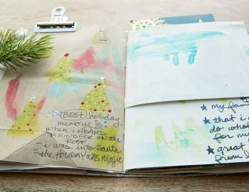 Holiday Art Journaling: Backgrounds and Collage