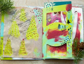 Holiday Art Journaling: Get Your Merry On