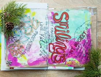 Holiday Art Journaling: Doodling and Lettering