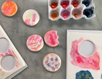 Watercolor Cookies with Wilton: 5/18/17