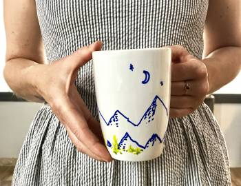 Paint Pen Mugs: 6/13/17