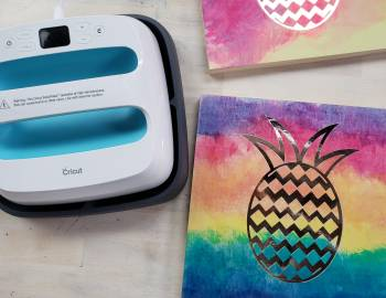 Cricut Easy Press - Pineapple Wall Art: 4/25/18