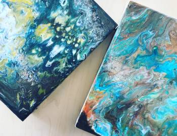 Acrylic Paint Pouring: 5/1/18