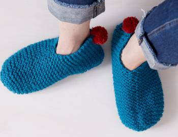 Easiest Garter Stitch Slippers