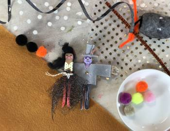 Halloween Clothespin Dolls: 9/20/18