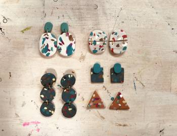 Faux Terrazzo Earrings: 11/13/18