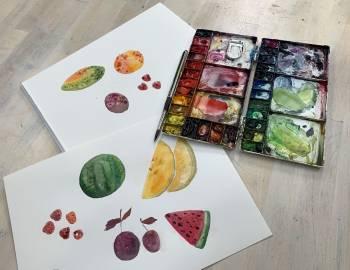 Watercolor effects using salt: 8/23/19