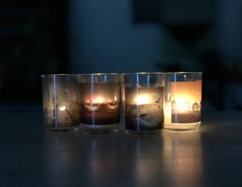 Spooky Transfer Votives: 10/3/19