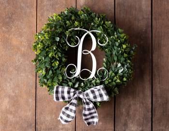 Glowforge Projects: Monogrammed Wreath