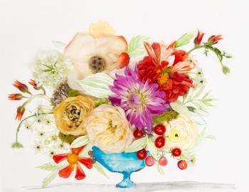 Art Meets Life: 31 Ways to Combine Watercolor and Flora