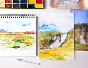 Landscape Watercolor Painting: Working from Photos
