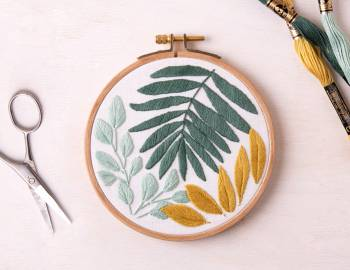 Botanical Leaf Embroidery