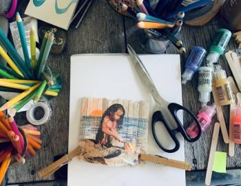 Camp Creativebug: Popsicle Stick Frames