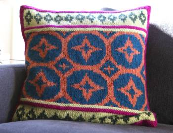 Steeked Fair Isle Pillow