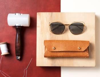 Make a Leather Eyeglass Case