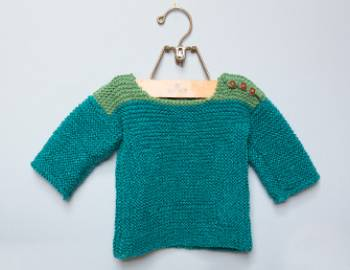 Log Cabin Baby Sweater