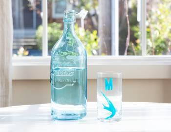 Stenciled Glassware
