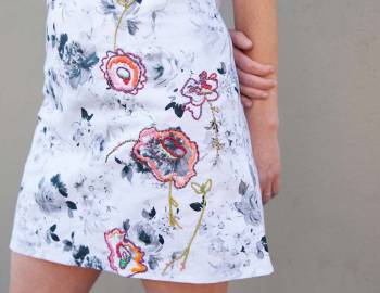 Embroidery Embellished Skirt