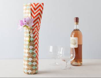 Double Layer Paper Wine Wrap
