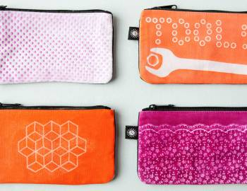 Lumi: Shadow Printed Pouch