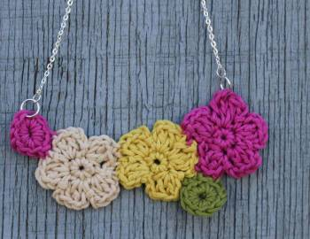 Crochet Flower Jewelry