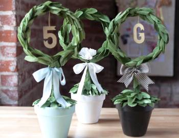 Paper Wedding Crafts: DIY Topiary
