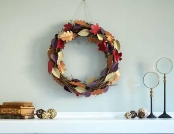 Cricut Crafts: DIY Fall Leaves Wreath