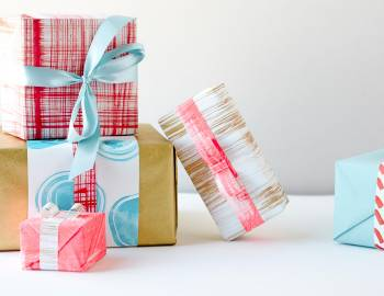 DIY Painted Gift Wrap