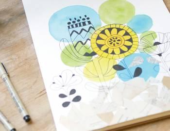 Sketchbook Explorations: Mixed Media on Paper