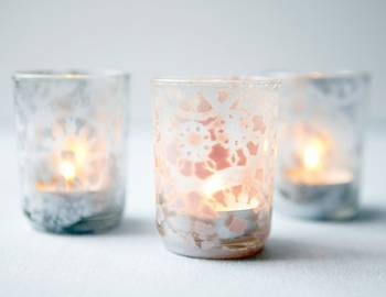 Spray-Painted Votives