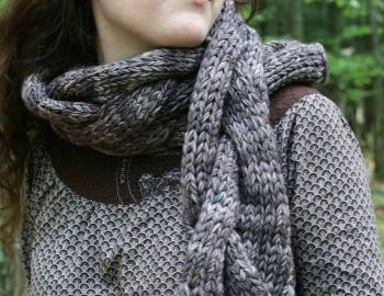 Gigantic Cable Scarf