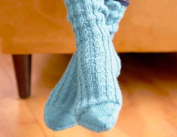 How to Knit Twisted Rib Socks