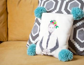 Sew Embellished Photo Pillows