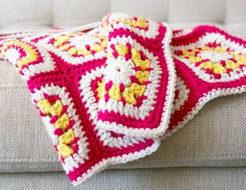 Granny Squares Baby Blanket: Add a Crocheted Edging