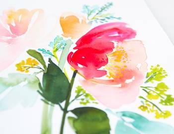 Intermediate Watercolor: Painting Florals