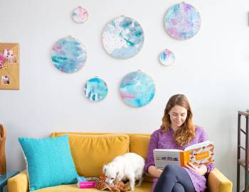 DIY Room Decor: Painted Fabric Wall Art