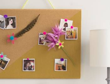 DIY Room Decor: Color-Blocked Bulletin Board
