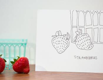 How to Draw Strawberries