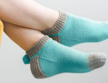 Knitted Pom Pom Socks