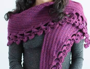 Crochet Shawl Workshop: Crescent Shawl