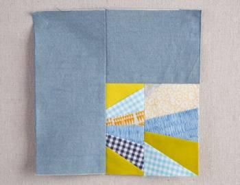 Polk Block: Paper-Piecing with Scraps