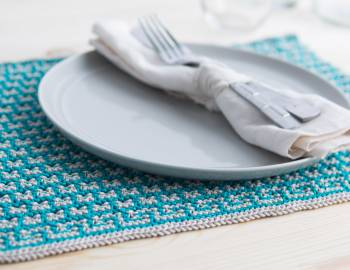Mosaic Knitting: How to Make Placemats