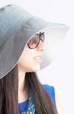 Learn how to sew a reversible sun hat sewing pattern class