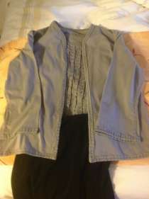 Ruffled shell and jacket