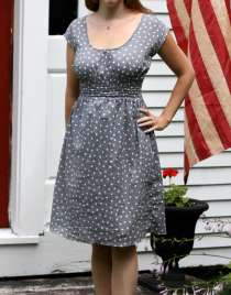 retro Peasant Dress